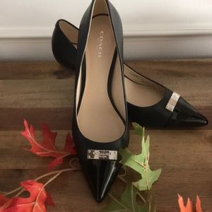 Coach heels black